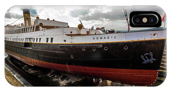 Boat In Drydock IPhone Case