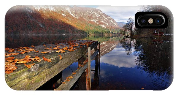 Boat Mooring At Lake Bohijn IPhone Case