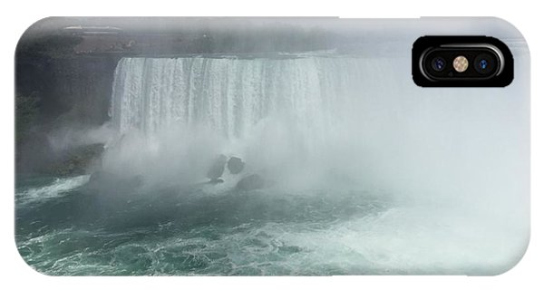 Boat Near Niagara Falls IPhone Case