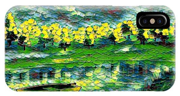 Boat On Lake IPhone Case