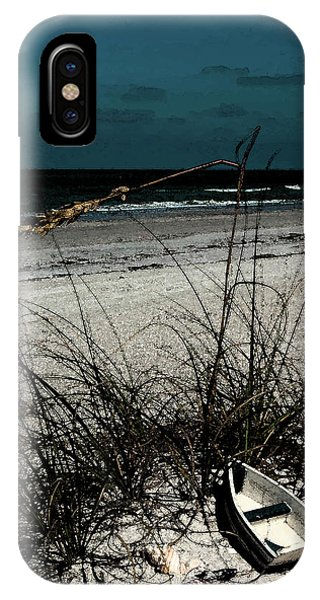 Boat On The Beach IPhone Case