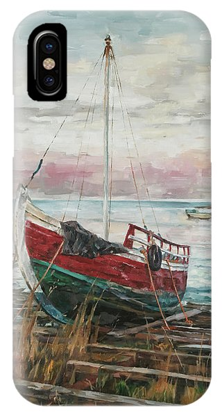 Boat On The Shore IPhone Case