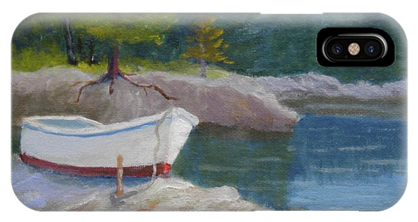 Boat On Tidal River IPhone Case