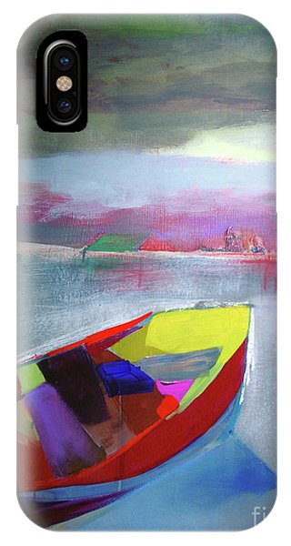 Boat On Whiskey Lake IPhone Case