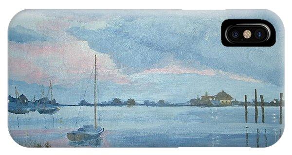 Boat Sunset IPhone Case