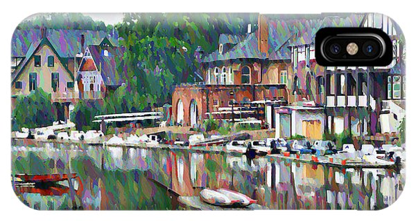 Temple iPhone Case - Boathouse Row In Philadelphia by Bill Cannon