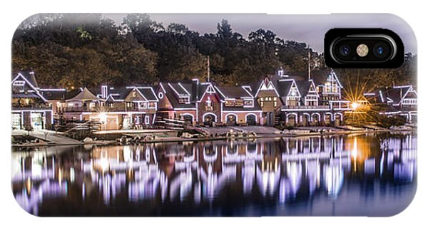 Boathouse Row Night Blue IPhone Case