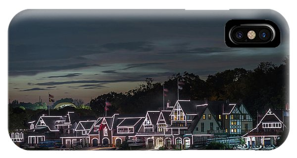 Regatta iPhone Case - Boathouse Row Philly Pa Night by Terry DeLuco