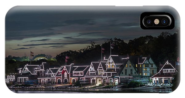 Boathouse Row Philly Pa Night IPhone Case
