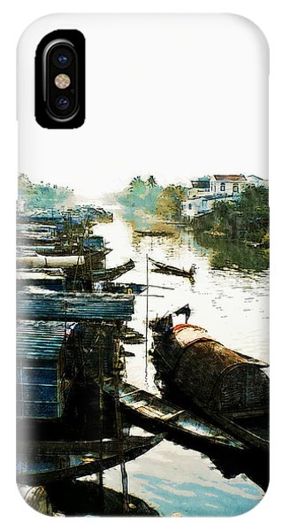 Boathouses In Vietnam IPhone Case