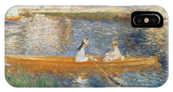 Impressionism iPhone X Case - Boating On The Seine by Pierre Auguste Renoir