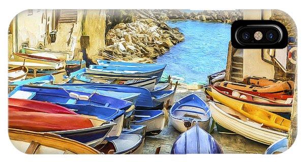 Boats At Cinque Terre IPhone Case