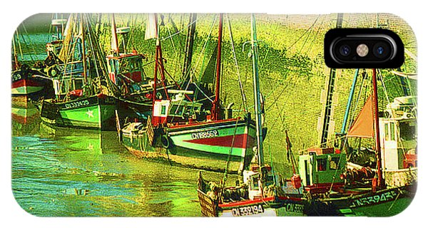 Boats At Honfluer France Phone Case by Fred Jinkins