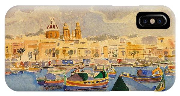 Boats At Marsaxlokk IPhone Case