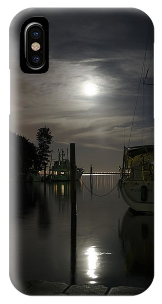 Boats At Moon Rise IPhone Case
