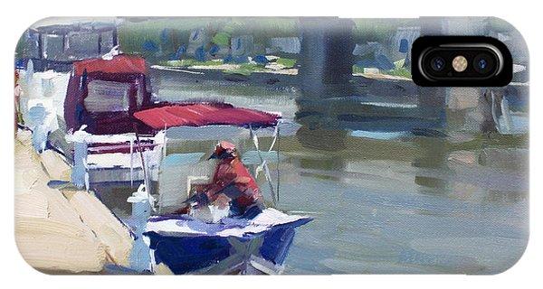 North iPhone Case - Boats At North Tonawanda Canal by Ylli Haruni