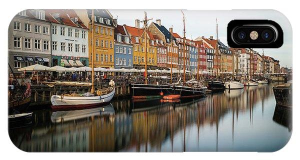 Boats At Nyhavn In Copenhagen IPhone Case