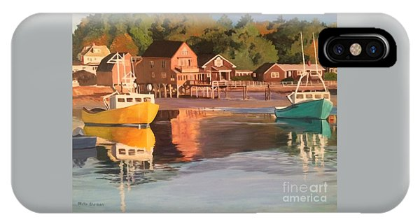 Boats In Kennebunkport Harbor IPhone Case