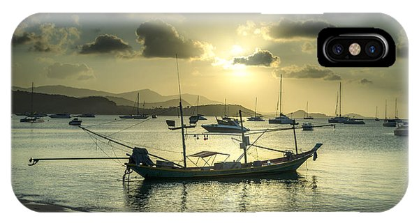 Boats In The Bay IPhone Case