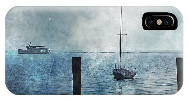 Boats In The Fog IPhone Case
