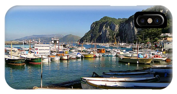 Boats In The Harbor IPhone Case