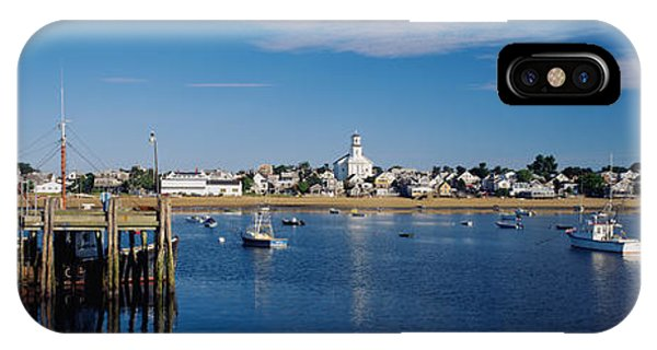 Moor iPhone Case - Boats In The Sea, Provincetown, Cape by Panoramic Images