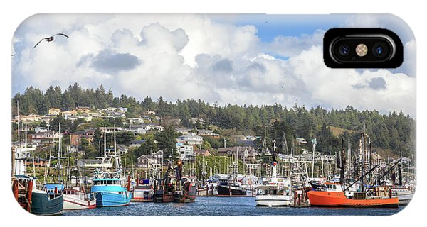 Boats In Yaquina Bay IPhone Case
