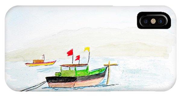 Boats Near Khashid Beach IPhone Case