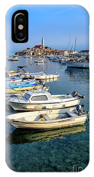 Boats Of The Adriatic, Rovinj, Istria, Croatia  IPhone Case