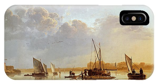 Boats iPhone Case - Boats On A River by Aelbert Cuyp