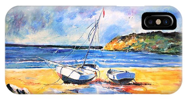 Boats On The Beach IPhone Case
