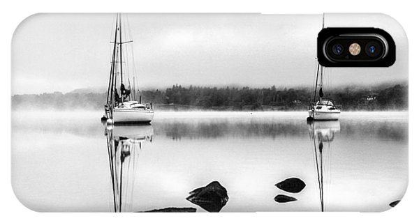 Boats On Ullswater In The Lake District IPhone Case