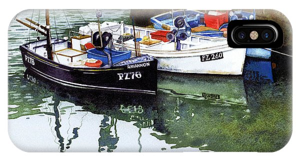 iPhone Case - Boats Porthleven Harbour by Paul Dene Marlor