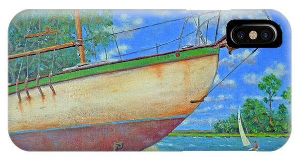 Boatyard On Shem Creek IPhone Case