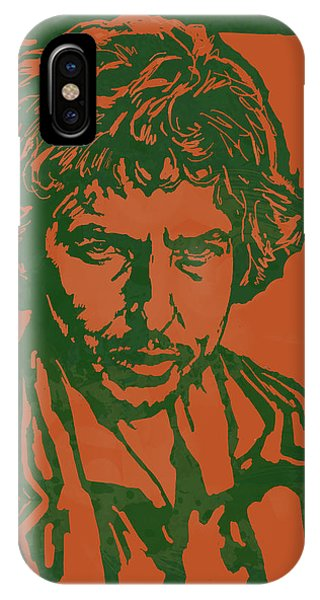 Bob Dylan Pop Stylised Art Sketch Poster IPhone Case