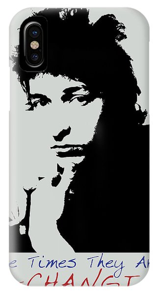 Bob Dylan Poster Print Quote - The Times They Are A Changin IPhone Case