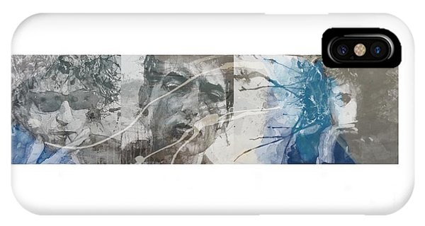 Bob Dylan iPhone Case - Bob Dylan Triptych by Paul Lovering