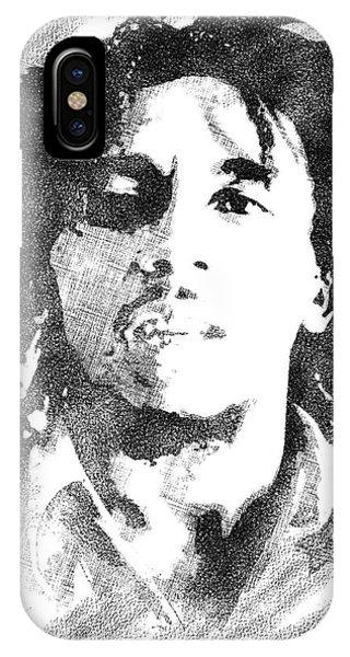 Bob Marley Bw Portrait IPhone Case