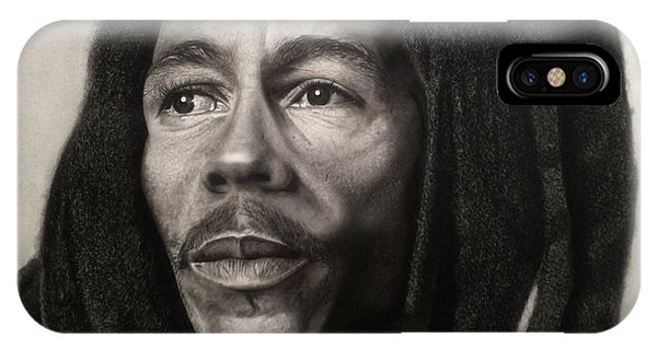 Bob Marley Drawing IPhone Case
