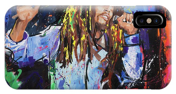 Guitar Legends iPhone Case - Bob Marley by Richard Day