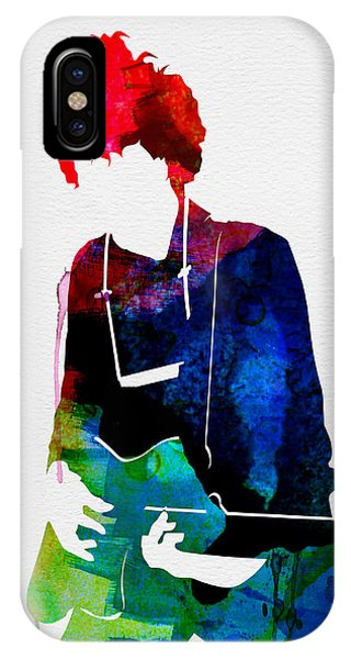Bob Dylan iPhone Case - Bob Watercolor by Naxart Studio