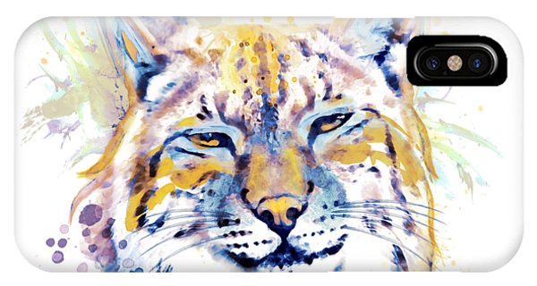 Lynx iPhone Case - Bobcat Head by Marian Voicu