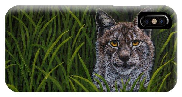 Lynx iPhone Case - Bobcat by Veikko Suikkanen