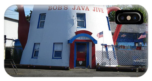 Bob's Java Jive Coffee Pot IPhone Case