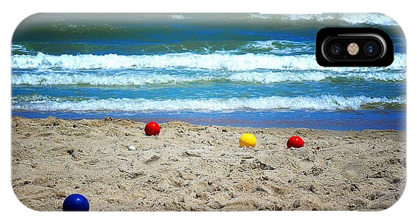 Bocce On The Beach IPhone Case