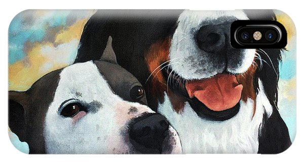 Bodhi And Lily  Pet Portrait IPhone Case