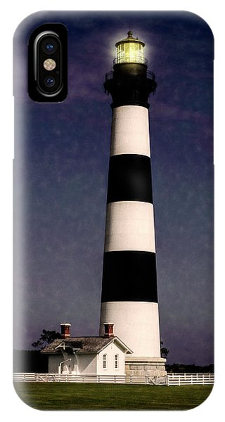 IPhone Case featuring the photograph Bodie Island Light Station by Penny Lisowski