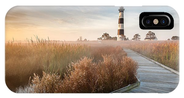 Nc iPhone Case - Outer Banks North Carolina Bodie Island Lighthouse by Mark VanDyke