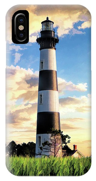 IPhone Case featuring the painting Bodie Island Lighthouse by Christopher Arndt