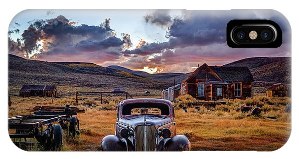 Mono iPhone Case - Bodie's 1937 Chevy At Sunset by Jeff Sullivan